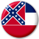 Mississippi State Flag 25mm Pin Button Badge